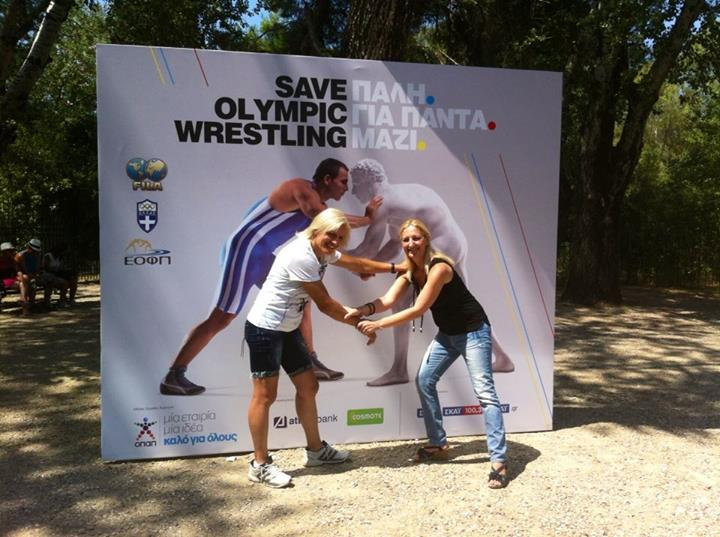 Save Olympic Wrestling - Voula Zigouri 1