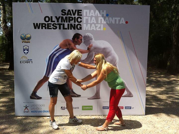 Save Olympic Wrestling - Voula Zigouri 3