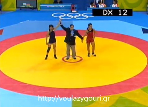 Athens 2004 Olympics Wrestling - Gross Stephanie vs Zygouri Stavroula - August 22, 2004