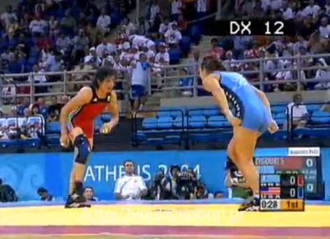 Athens 2004 Olympics Wrestling - Zygouri Stavroula vs McMANN Sara - August 23, 2004