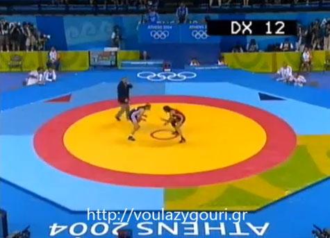 Athens 2004 Olympics Wrestling - Zygouri Stavroula vs Legrand Lise - August 23, 2004