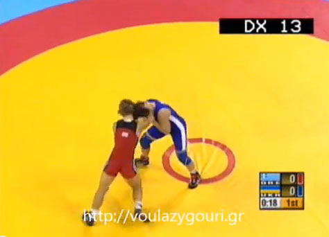 Athens 2004 Olympics Wrestling - Women 72kg Elimination - Pool B - VRYONI Maria Louiza  - SAYENKO Svitlana - August 22, 2004