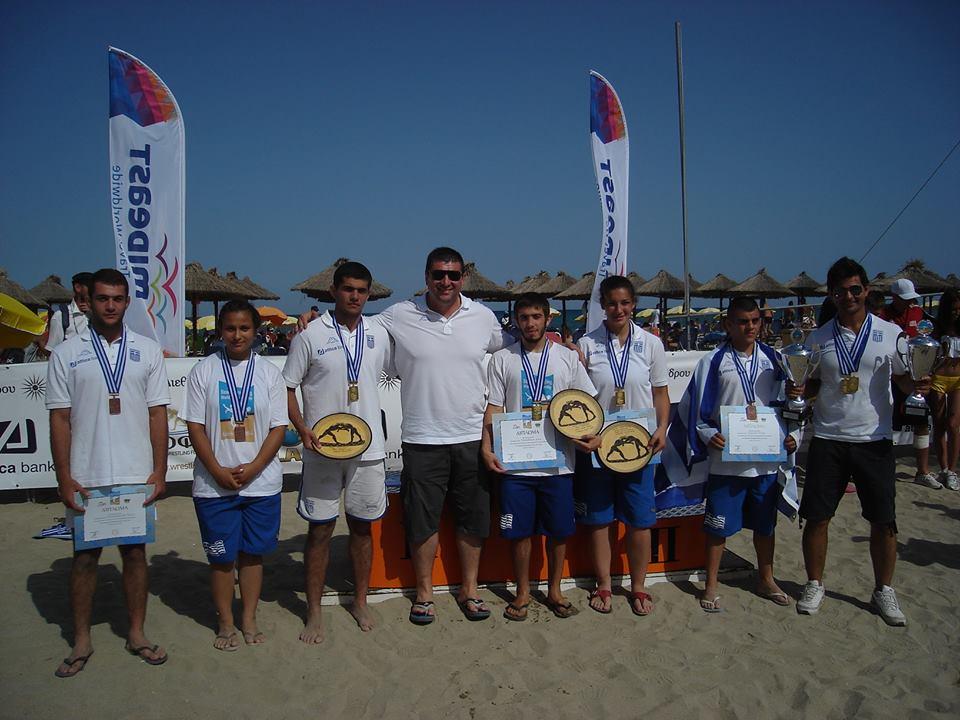 Παγκόσμιο Πρωτάθλημα Πάλης στην άμμο Κατερίνη 2014