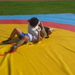 Voula Zygouri - Wrestling lessons - Imagine Peace Youth Camp 2014 (1)
