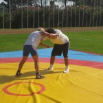 Voula Zygouri - Wrestling lessons - Imagine Peace Youth Camp 2014 (2)