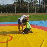 Voula Zygouri - Wrestling lessons - Imagine Peace Youth Camp 2014 (3)