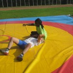 Voula Zygouri - Wrestling lessons - Imagine Peace Youth Camp 2014 (32)