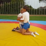 Voula Zygouri - Wrestling lessons - Imagine Peace Youth Camp 2014 (38)