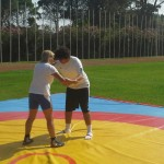 Voula Zygouri - Wrestling lessons - Imagine Peace Youth Camp 2014 (64)