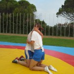 Voula Zygouri - Wrestling lessons - Imagine Peace Youth Camp 2014 (71)