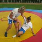 Voula Zygouri - Wrestling lessons - Imagine Peace Youth Camp 2014 (87)