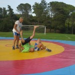 Voula Zygouri - Wrestling lessons - Imagine Peace Youth Camp 2014 (90)