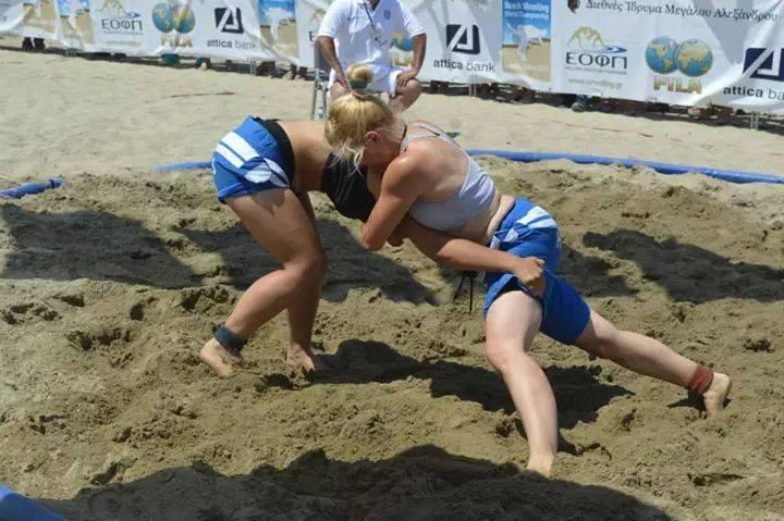 Αθηνά Γιαννουσά - Πρωτάθλημα πάλης στην άμμο