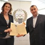 Μνημόνιο συνεργασίας Συλλόγων Ολυμπιονικών Ελλάδας Γεωργίας 1