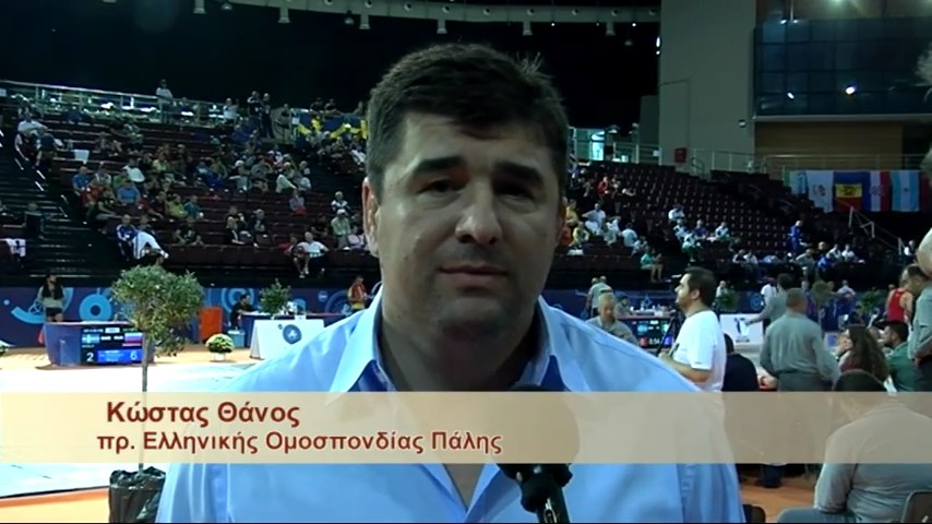Παγκόσμιο Πρωτάθλημα Πάλης Βετεράνων Αθήνα 2015 - Κώστας Θάνος