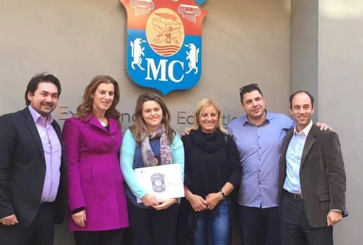 Μνημόνιο συνεργασίας μεταξύ Συλλόγου Ελλήνων Ολυμπιονικών και Mediterranean College Βούλα Ζυγούρη 2