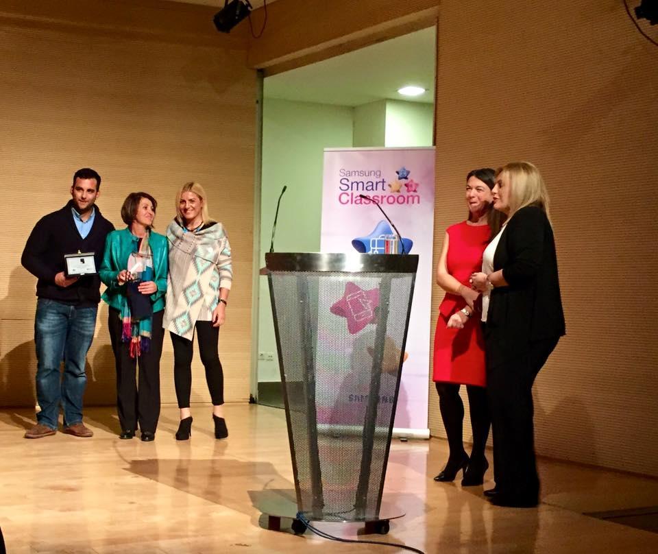 Bραβεία λεμε οχι στον σχολικό εκφοβισμό του Διεθνούς κέντρου Ολυμπιακής Εκεχυρείας 2015 - Βούλα Ζυγούρη 1