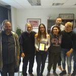 Βράβευση της Ολυμπιονίκη Μαρίας Καρδαρά από το Δήμο Χαϊδαρίου.