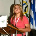 Ομιλία της Γενικής Γραμματέα των Ελλήνων Ολυμπιονικών και Γενικής Γραμματέα Πανελλήνιας Ομοσπονδίας Χειροπάλης Βούλας Ζυγούρη