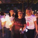 Η Σοφία Παπαδοπούλου και η Βούλα Ζυγούρη στην 17η λαμπαδηδρομία αιμοδοσίας στην Καλλιθέα